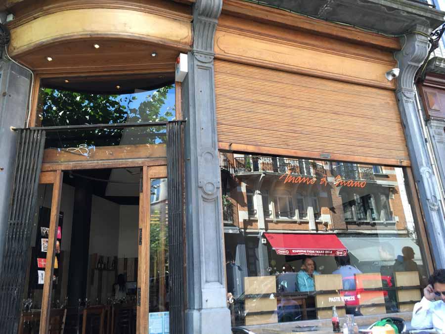 mano a mano restaurant pizzas Saint-Boniface devanture